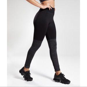 Gymshark Two Tone Seamless Leggings Grey Marl/Black